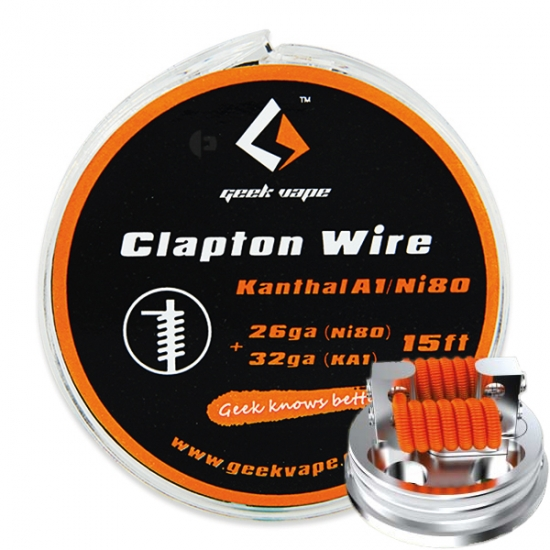 Clapton KA1/Ni80 Heizdraht (0,4mm + 0,2mm) - 5 Meter