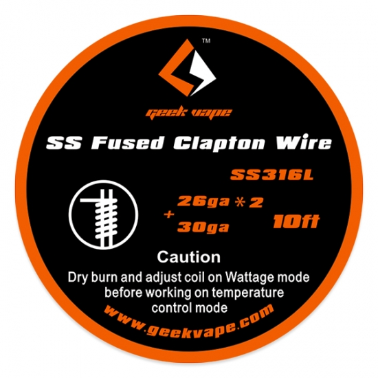 Fused Clapton SS316 Heizdraht - 3 Meter