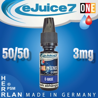 10ml eJuice7 ONE Shot Base 50/50 3mg