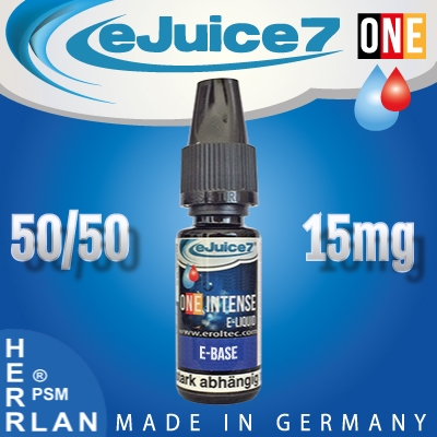 10ml eJuice7 ONE Base 50/50 15mg