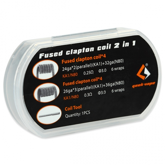 8x Fused Clapton Coil 2 In 1 - GeekVape