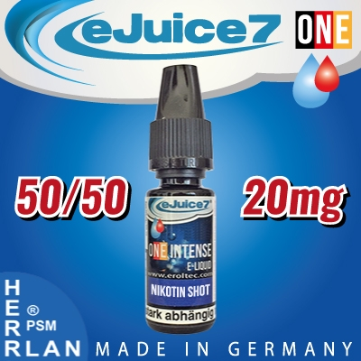 10ml eJuice7 ONE Nikotin Shot 50/50 20mg