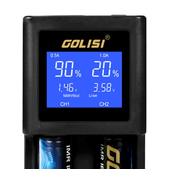Golisi S2 2A Smart Charger LCD Screen