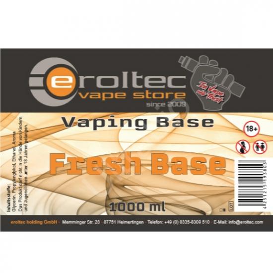1000ml eroltec Fresh Base 0mg