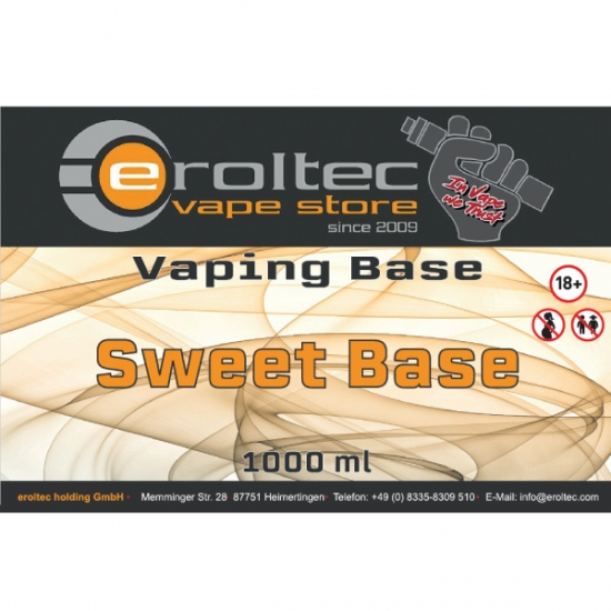 1000ml eroltec Sweet Base 0mg