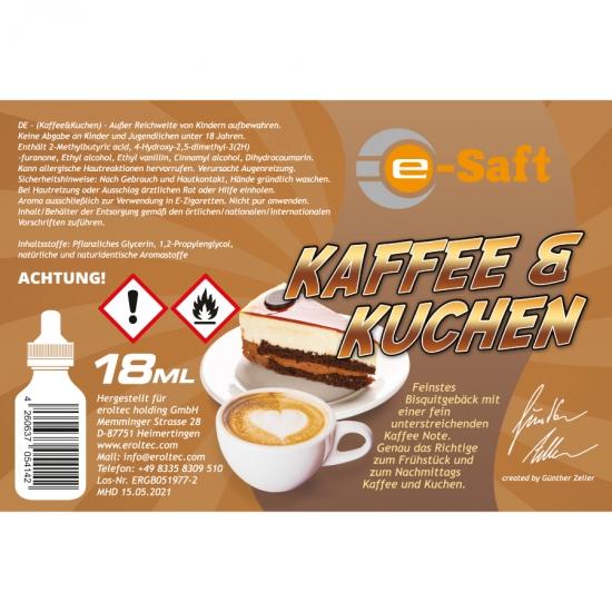 Kaffee & Kuchen - eSaft Aroma 18ml