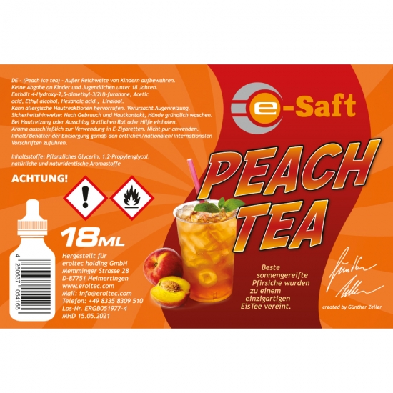 Peach Tea - eSaft Aroma 18ml