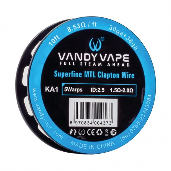 VandyVape Superfine MTL Clapton Wire KA1 3m
