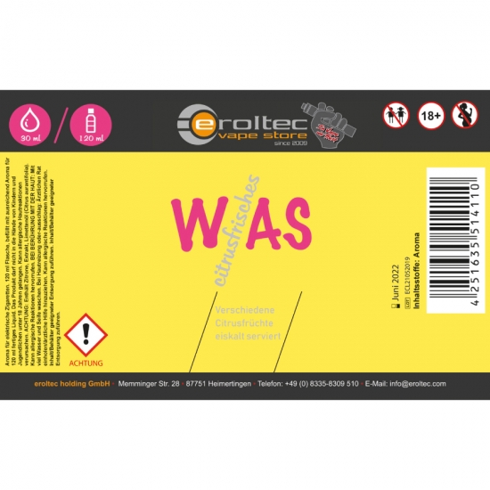 WAS citrusfrisches - Aroma 30ml