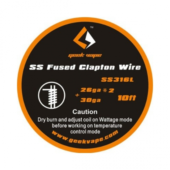 SS Fused Clapton Heizdraht - 3 Meter