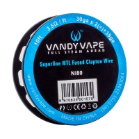 VandyVape Superfine MTL Ni80 Fused Clapton Wire 3m