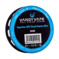 VandyVape Superfine MTL Ni80 Fused Clapton Wire 3m