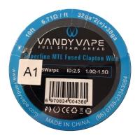 VandyVape Superfine MTL A1 Fused Clapton Wire 3m