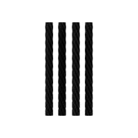 4x Simurg Edelstahl-Docht 3x34mm - PVD Black